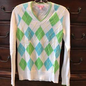 Lilly Pulitzer argyle sweater